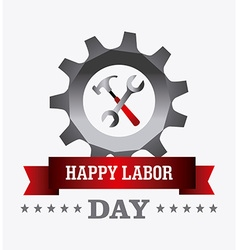 Labor day card design vector