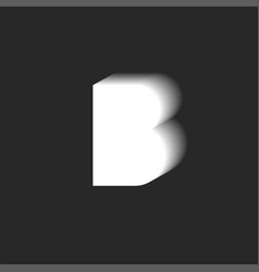 Letter b logo isometric shape gradient typography vector