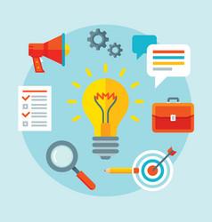 lightbulb - concept banner vector image