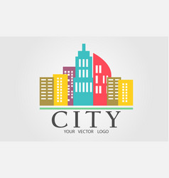 logo of a color city vector image