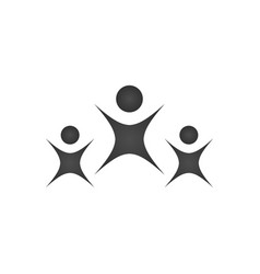 Logo of adult and child happy people fun three vector