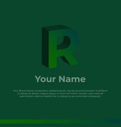 Logotype alphabet 3d logo letter r monogram logo vector