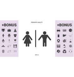man and woman icon - graphic elements for your vector image