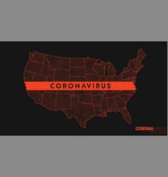 Map coronavirus spread in usa conceptual map vector