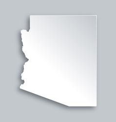 Map of Arizona vector image