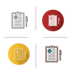 medical report icon vector image