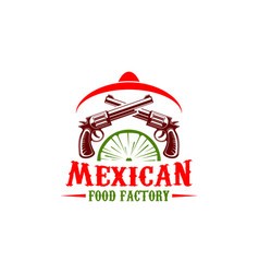 mexican food factory sign vector image