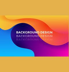 modern color gradient background design vector image