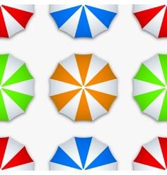 modern colorful seamless umbrella vector image