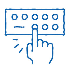 Musical console doodle icon hand drawn vector