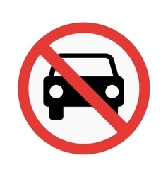 No car sign vector