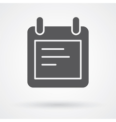 notes icon vector image