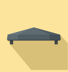 Outdoor tent icon flat style vector