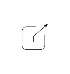 Output icon vector
