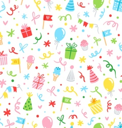 Party fun seamless pattern vector