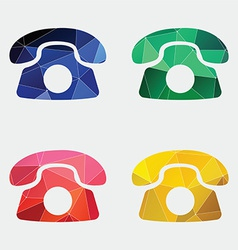 Phone icon Abstract Triangle vector