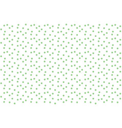 polka with green dots soft simple seamless pattern vector image