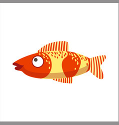 Red and yellow fantastic colorful aquarium fish vector