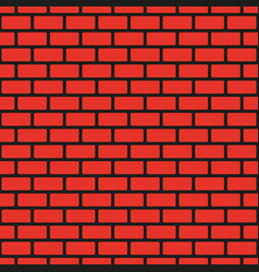 red seamless brick wall black seam vector image