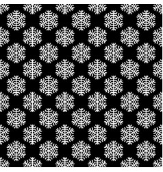 repeating geometrical stylized snowflake pattern vector image