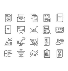 Report icons set vector