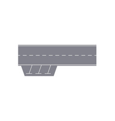 Road with parking zone isolated segment vector