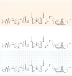 sao paulo hand drawn skyline vector image