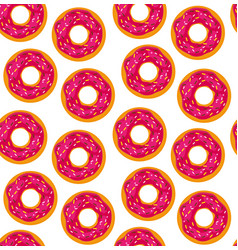 seamless background of donuts with pastry pads vector image