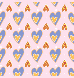 seamless pattern love print decorative pattern vector image