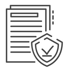 secured doc paper icon outline style vector image