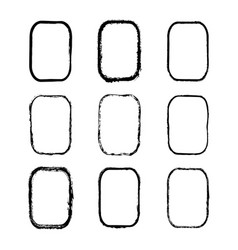 set of black painted rectangles frames vector image