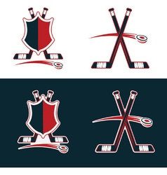 set of Hockey Sport Crests vector image vector image