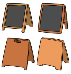 set of sandwich board vector image