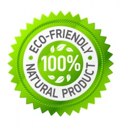 sign of ecofriendly product vector image