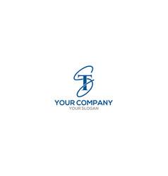 St script logo design vector