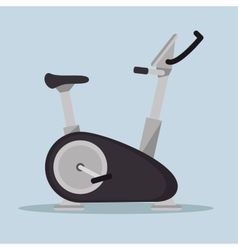 static bike fitness sport icon vector image