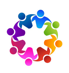 teamwork group of friends icon vector image