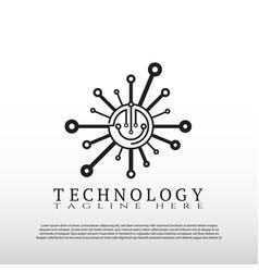 Technology logo future tech icon element vector