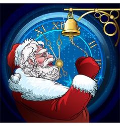 The ringing Santa Claus vector image