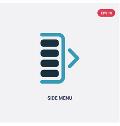 Two color side menu icon from user interface vector