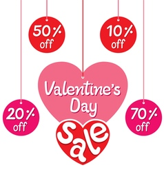 Valentines day sale and discount tags vector