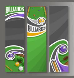 Vertical banners for billiards vector
