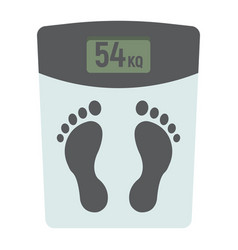 weight scale flat icon fitness and sport vector image