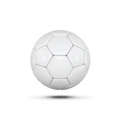 white leather ball soccer ball on white vector image