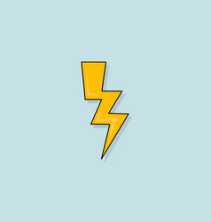 yellow electric lightning bolt with shading vector image