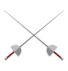 Cross swords vector image