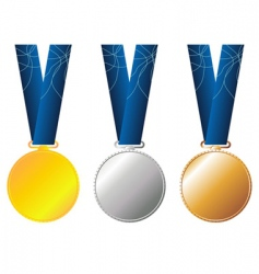 medals set vector image vector image