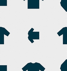 t-shirt icon sign Seamless pattern with geometric vector image