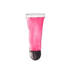 Watercolor lipgloss aquarelle vector image vector image