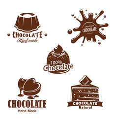 Isolated chocolate candy desserts splash vector
